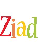 Ziad birthday logo