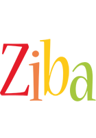 Ziba birthday logo