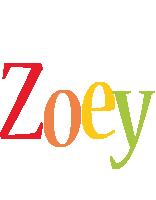 Zoey birthday logo