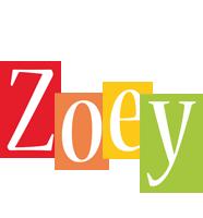 Zoey colors logo