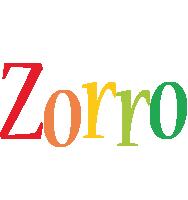 Zorro birthday logo