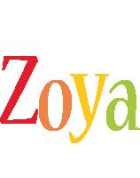 Zoya birthday logo