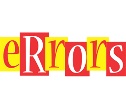ERRORS logo effect. Colorful text effects in various flavors. Customize your own text here: http://www.textGiraffe.com/logos/errors/