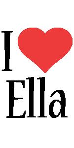 Ella logo name logo generator i love love heart for I love design
