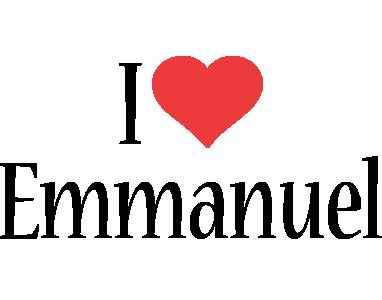 Emmanuel logo name logo generator i love love heart for I love to design