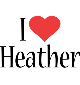 Heather logo name logo generator i love love heart for I love design