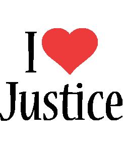 Justice logo name logo generator i love love heart for I love design