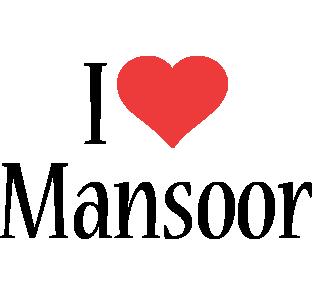 Mansoor Logo Name Logo Generator I Love Love Heart