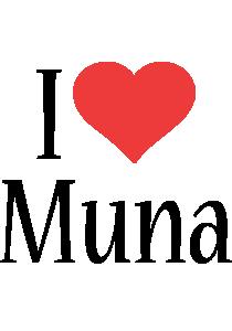 Muna logo name logo generator i love love heart for I love design