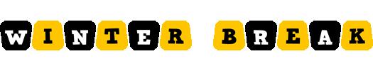 Winter Break Logo in Jennings Colors