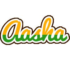 Aasha banana logo