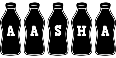 Aasha bottle logo