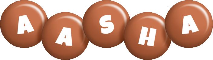 Aasha candy-brown logo