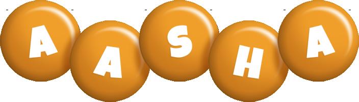 Aasha candy-orange logo