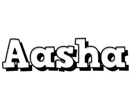 Aasha snowing logo