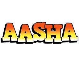 Aasha sunset logo