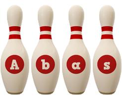 Abas bowling-pin logo