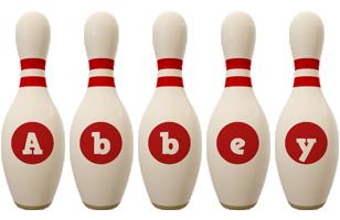 Abbey bowling-pin logo
