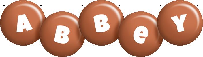 Abbey candy-brown logo