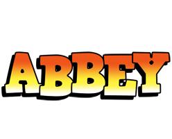 Abbey sunset logo