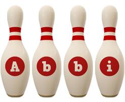 Abbi bowling-pin logo
