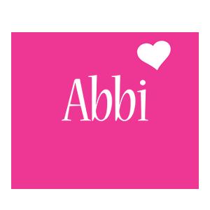 Abbi love-heart logo