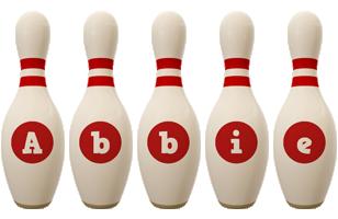 Abbie bowling-pin logo