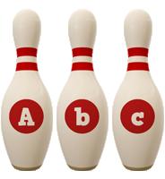 Abc bowling-pin logo