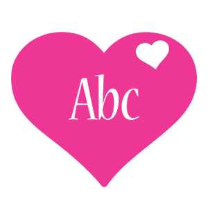 Abc love-heart logo