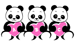 Abc love-panda logo