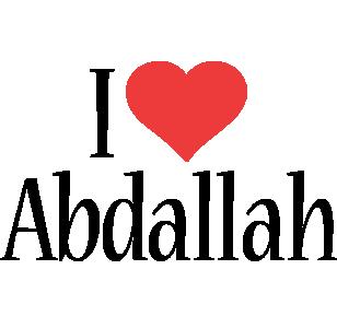 Abdallah i-love logo