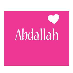 Abdallah love-heart logo