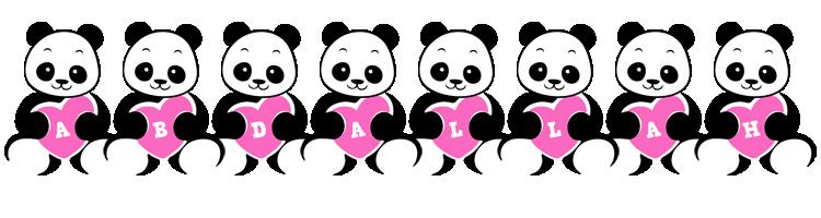 Abdallah love-panda logo