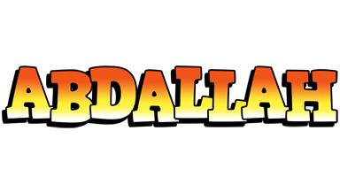 Abdallah sunset logo