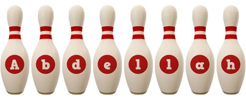Abdellah bowling-pin logo