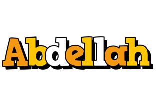 Abdellah cartoon logo