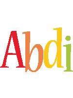 Abdi birthday logo