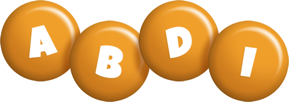 Abdi candy-orange logo
