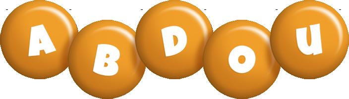 Abdou candy-orange logo