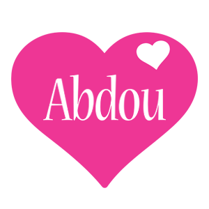 Abdou love-heart logo