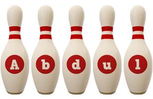 Abdul bowling-pin logo