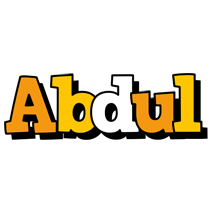 Abdul cartoon logo