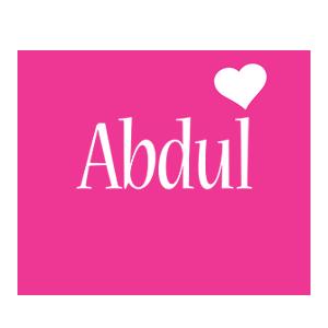Abdul love-heart logo