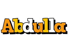 Abdulla cartoon logo