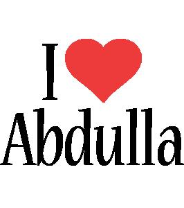 Abdulla i-love logo