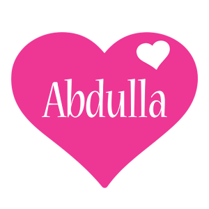 Abdulla love-heart logo