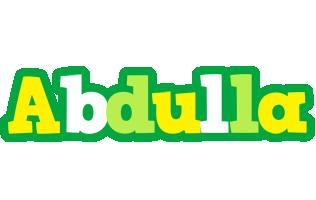 Abdulla soccer logo