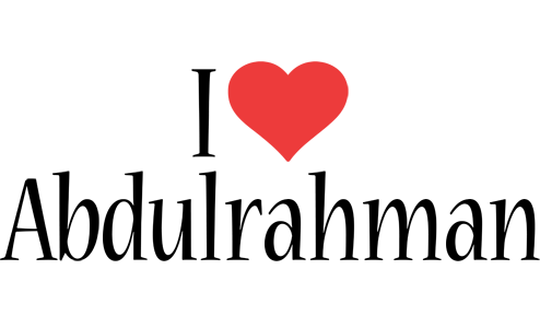 Abdulrahman I Love Logo