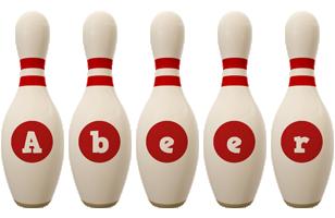 Abeer bowling-pin logo