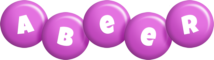 Abeer candy-purple logo